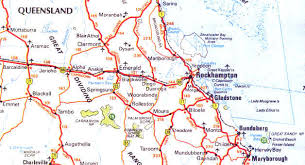 map of queensland central queensland map queensland australia