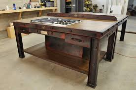kitchen design finest rustic kitchen island intended for image
