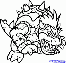 printable coloring pages bowser coloring