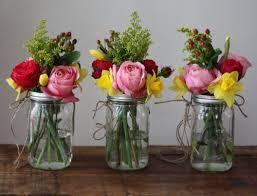 jar arrangements jar wedding flowers home design hay us