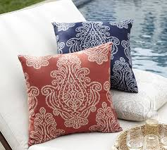 sunbrella jacquie jacquard indoor outdoor pillow pottery barn