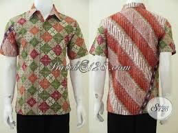 desain baju batik pria 2014 pusat online belanja kemeja batik pria modern jual baju batik