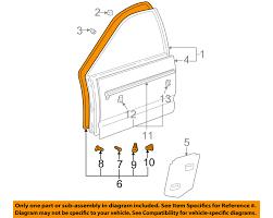 lexus gs300 for sale tampa fl lexus toyota oem gs300 front door surround weatherstrip seal right