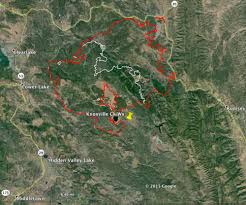 California Wildfire Locations 2015 by Rocky Fire East Of Clearlake California U2013 Wildfire Today