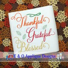 thanksgiving embroidery design thankful embroidery saying
