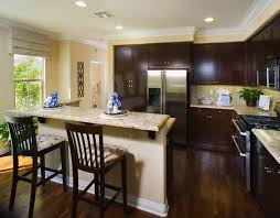 Kitchen Cabinets Dark Wood Amazing Dark Floors And Cabinets Light Counter And Backsplash W