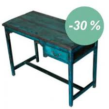 le de bureau bleu console métal bois bleue cette console dans les tons de bleu est