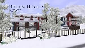 Winter House Sims 3 House Holiday Heights Estate Youtube