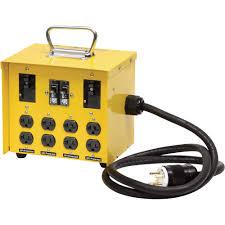 portable power box w gfci u2014 30 amps 125 250 volts 8 outlets