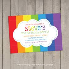 creative rainbow birthday party invitations inside newest article