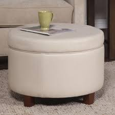 chocolate storage ottoman homepop large ivory leather round storage ottoman free shipping