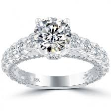 Circle Diamond Wedding Ring by 3 92 Carat G Vs1 Certified Natural Round Diamond Engagement Ring