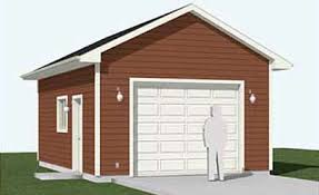 22x22 2 Car 2 Door Detached Garage Plans by Garage Plans Behm Garage Plans
