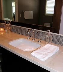 bathroom backsplash tile ideas 27 great small bathroom glass tiles ideas