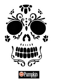 Free Scary Halloween Pumpkin Stencils - easy sugar skull pumpkin pattern halloween pinterest sugar