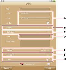 Creating A Vita Creating An Event Playstation Vita User U0027s Guide
