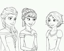 elsa anna rapunzel good coloring