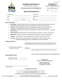 5 free sponsorship agreement templates excel pdf formats