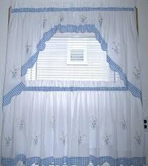 Gingham Curtains Blue Kitchen Curtains Blue U2013 Teawing Co