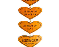 25 year anniversary gifts 8th anniversary gift gifts for anniversary personalized
