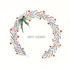 Holiday Wreath Holiday Wreath Illustration Pen And Watercolor Art U0026 Design