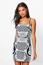 embellished dress boutique reanne embellished bodycon dress boohoo