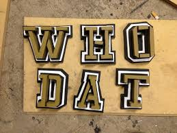 who dat distressed home decor his and hers construction