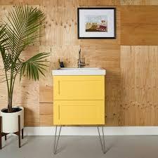 kitchen bath cabinets semihandmade diy shaker ikea godmorgon bath cabinet hairpin legs