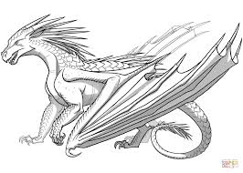 icewing dragon from wings of fire coloring page free printable