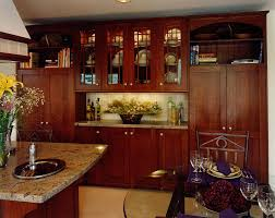 magnificent wooden cherry kitchen cabinets with sleek countertop