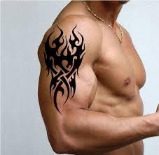 cool men henna tattoo black fake tattoo stickers ink waterproof