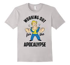 Boys Halloween T Shirts by Amazon Com Workout T Shirt Vault Boy Working Out For The