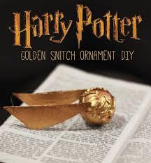 snitch ornament diy harry potter craft