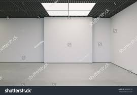 clean wall modern empty minimalistic interior exhibition clean stock