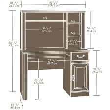 sauder orchard computer desk with hutch carolina oak small wood computer desk with hutch in carolina oak 401353