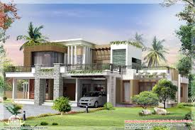 contemporary home design plans floor plan and elevation of pleasing new contemporary home designs