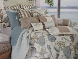 Beachy Comforters Elegant Blue And White Beach Theme Comforter Bedding Set Of