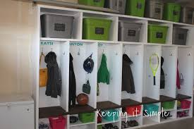Mud Room Furniture by Keeping It Simple Diy Garage Mudroom Lockers With Lots Of Storage