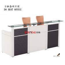 Office Reception Desk Modern Design Aluminum Alloy Partition 2 Person Office Reception