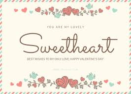 sweet heart valentine u0027s day card template template fotojet