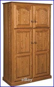 Wood Pantry Shelving by Oak Pantry Storage Cabinet Foter