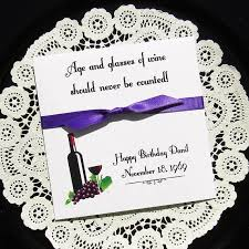 60th birthday party favors wine party favor lottery ticket favors birthday party