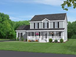 majestic looking 8 front view of a colonial house plans two story