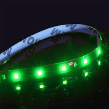 green underbody led light kit 4 strips neon