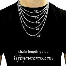 mens necklace chains length images Christian contemporary stainless steel cross men 39 s pendants necklace jpg