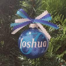 initial ornament name ornament glitter ornament