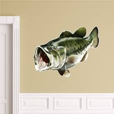 largemouth bass wall decal peel and stick fish sticker bass zoom