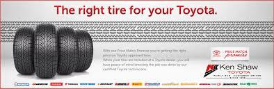toyota price toyota tire price match promise ken shaw toyota