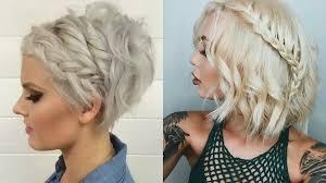 short hair with braids