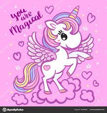 imagenes de unicornios en caricatura hermosa caricatura unicornio arco iris vector de stock zerlina
